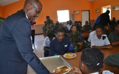 TROOPS RECEIVE HOLIDAY TREAT