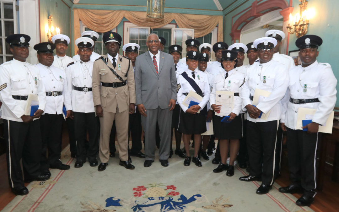 ANTIGUA & BARBUDA POLICE RECEIVE RSS MEDALS