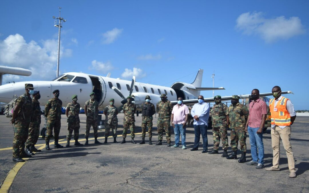 Police Officers And Soldiers Form Part Of RSS Peacekeeping Mission To St. Vincent And The Grenadines